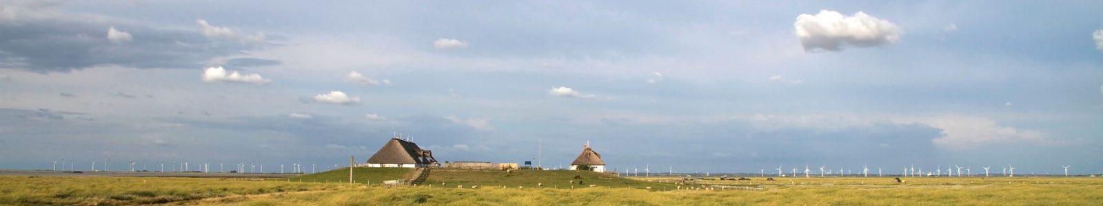 Weite und Ruhe auf einer Hallig in der Nordsee
