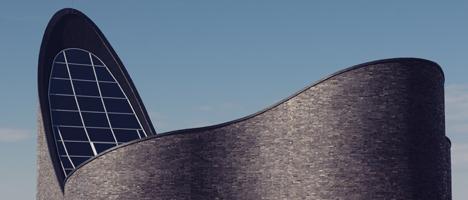 Moderne Kirchenarchitektur an der Nordsee