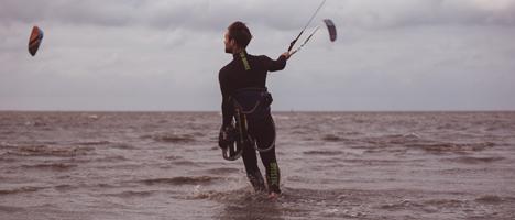 Surf-Schule an der Nordsee